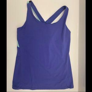 Gap Workout Shirt, Shelf Bra, Criss Cross, M